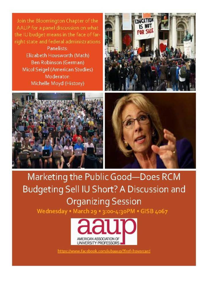 AAUP RCM Panel Spring '17